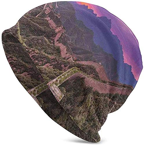 Surreale Wolkenlandschaft in Fantasietönen East Heritage Tourismus Exotische Kunst Unisex Mützen Mützen Hut Tough Headwear
