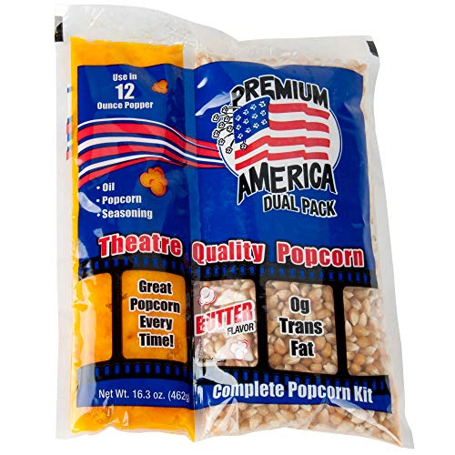 Fantastic Prices! TableTop King Premium America All-In-One Popcorn Kit for 12 oz. to 14 oz. Popper -...