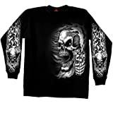Hot Leathers GMD2076 Assassin Double Sided Long Sleeve Biker T-Shirt (Black, XX-Large)