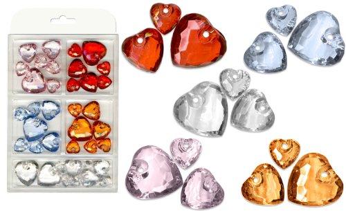 Sortiment Acryl-Diamantherzen ME13228