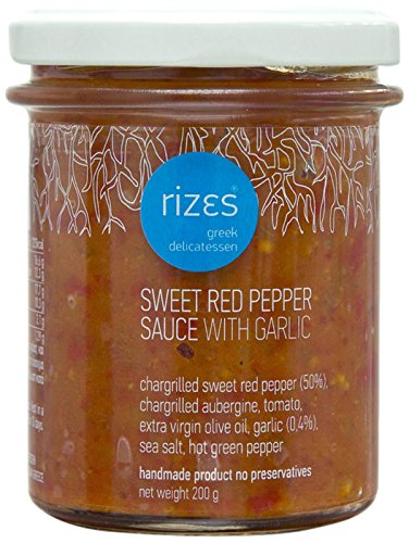 Rizes Greek Delicatessen Sweet Red Pepper Sauce with Garlic 200 g