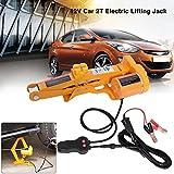 Ejoyous Cric elettrico 12 V DC 2 tonnellate, cric idraulico automatico a forbice con controller per...
