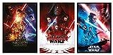 POSTER STOP ONLINE Star Wars Episode VII, VIII & IX - Movie Poster Set (Regular Styles) (Size 27 x 40')