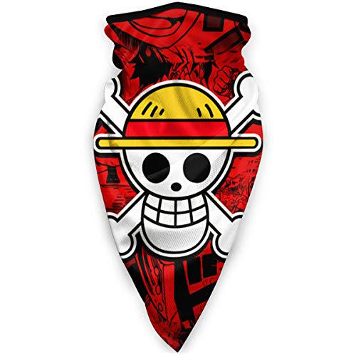 One Piece Luffy Roronoa Zoro Anime Unisex Face Mask Bandana Balaclava Sun Protection Dustproof Windproof Half Mask Scarf Neck Gaiter Reusable Lightweight Breathable Men Women Motorcycl Sports