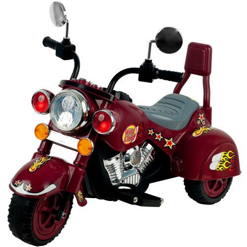 Ride on Toy, 3 Wheel Trike Chopper Motorcycle for Kids by Lil' Rider - Battery Powered Ride on Toys for Boys and Girls, Toddler and Up - Maroon