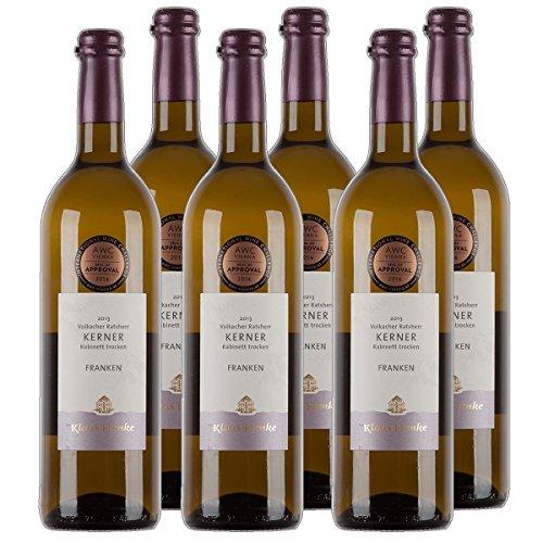 Frankenwein Volkacher Ratsherr Kerner Kabinett Weißwein Franken 2020 trocken (6x 0.75 l)