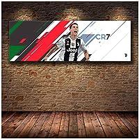 クリスティアーノロナウドドスサントスアヴェイロキャンバス絵画ポスターとプリント壁アート写真リビングルームの家の装飾-20X60インチフレームなし