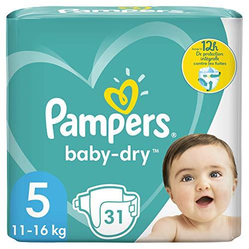 Pampers Baby-Dry Size 5 A 12 Ore Di Protezione, Per 11-16Kg - 900 Gr