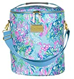 Lilly Pulitzer Blue/Green Insulated Soft Beach Cooler with Adjustable/Removable Strap and Double Zipper