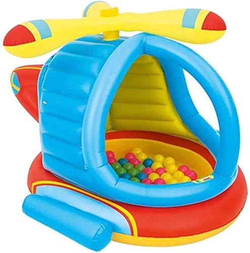BJH Châteaux gonflables, Trampoline de château Gonflable d'avion, pour Terrain de Jeu pour Enfants de Jardin intérieur et extérieur, Piscine pour bébé