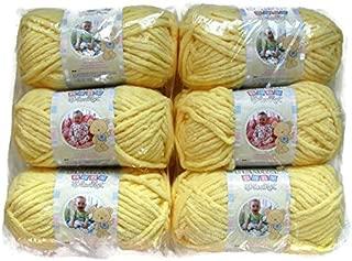 BERNAT Baby Blanket Yarn, 3.5oz, 6-PACK (Baby Yellow)