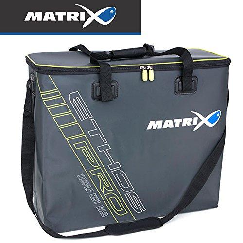 Fox Matrix Ethos Pro EVA Triple Net Bag - Angeltasche für Kescher, Keschertasche, Tackletasche für Kescherkopf, Netztasche