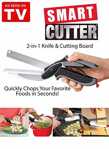Picadora 2 en 1 - Smart Cutter - Sustituye a Vos cuchillos de cocina y tablas de cortar