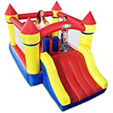 YARD Inflatable Bounce House Kids Bouncer with Air Blower Extra Thick Children's Outdoor Inflatable Bouncers, Holds 6 Kids for Party, Jumping Castle, for Outdoor and Indoor