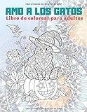 Amo a los gatos - Libro de colorear para adultos