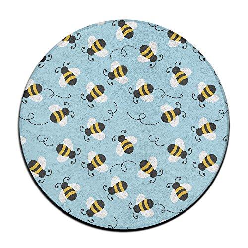 Bumblebee Motif antidérapant Tapis Circulaire Tapis de Moquette Salle à Manger Chambre à Coucher Tapis Tapis de Sol 59,9 cm