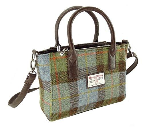 Harris Tweed Tragetasche für Damen, klein, Brora LB1228, Grün - Col15 - Größe: 20cm H x 30cm W x...