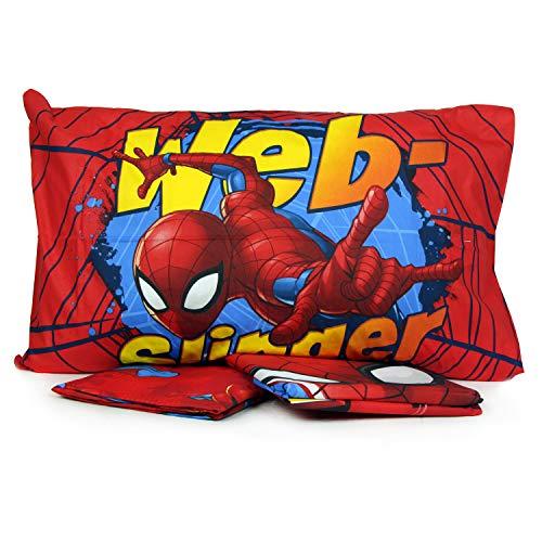 Juego de ropa de cama individual de algodón con diseño de Spiderman