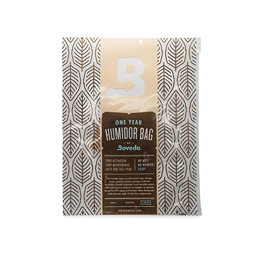Boveda for Cigars   Large Humidor Bag   Preloaded with 69% RH Size 60 2-Way Humidity Control   Stores up to 80 Cigars