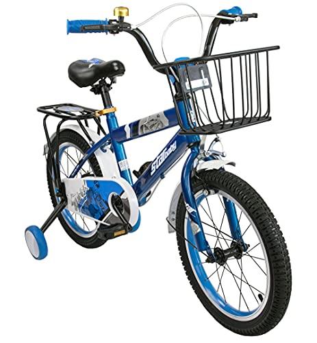 Airel Bicicletta | Bicicletta con Rotelle e Cestino | Biciclette per Bambini | Bici Bimbo | Bicicletta per Bambini 16 e 18 Pollici | Bicicletta per Bambini 4-7 Anni | Colore: Blu Pollici: 16