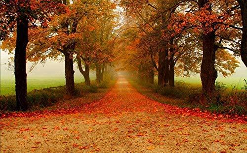 WFTD Puzzles 1000 Piezas Mini Puzzles de Árbol de Mangle otoño Paisaje de otoño Hojas niños Adultos Juego Art Painting Puzzle