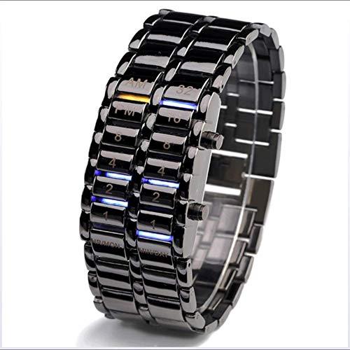 Pareja Reloj de pulsera llevada creativa del reloj electrónico de estudiantes impermeable reloj binario hombres y mujeres, los hombres LED electrónico de pulsera de mujeres Relojes Binarios fengong