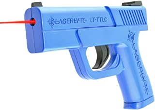 LaserLyte Laser Trainer Pistol Compact GLOCK 43 familiar size weight and feel RESETTING TRIGGER at 5.5 lb is ready to shoot after every pull FIRES a laser dot when REAL GUN SIGHTS for training
