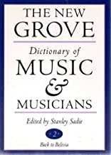 The New Grove Dictionary of Music and Musicians (20 Volume Set)