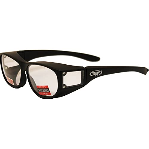 9af4bbd2a504b Escort Over Glasses Clear Lens Safety Glasses Has Matching Side Lens Meets  ANSI Z87.1
