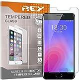 REY 3X Protector de Pantalla para MEIZU M6 / MEILAN 6, Cristal Vidrio Templado Premium