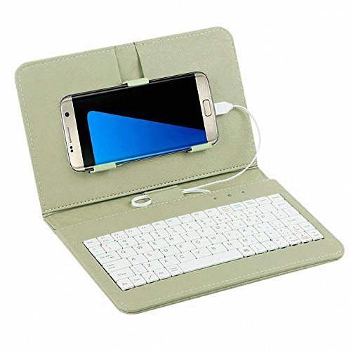 Tonsee General Wired Keyboard Flip Holster Case for Andriod Mobile Phone 42 68Grun