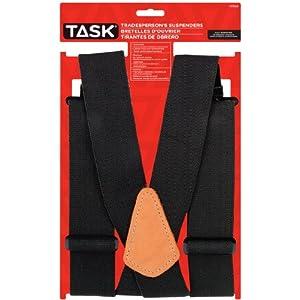 Task Tools T77409 Full Elastic Tradesperson's Suspenders, Blue