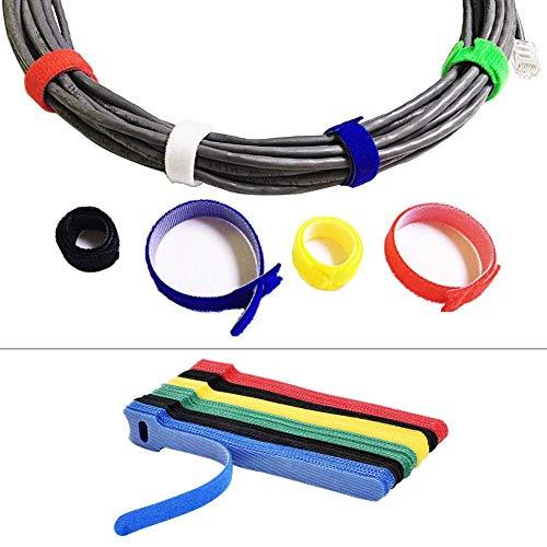 Fancylande 50 Stück wiederverwendbare Kabelbinder für verstellbare Kabelbinder mit Zugentlastung Kabelführung für Kabelaufbewahrung