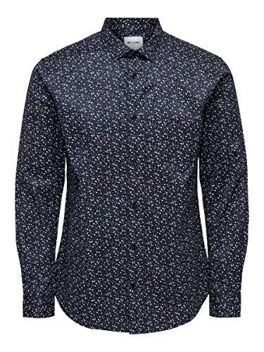 ONLY & SONS Male Hemd Bedrucktes LDress Blues