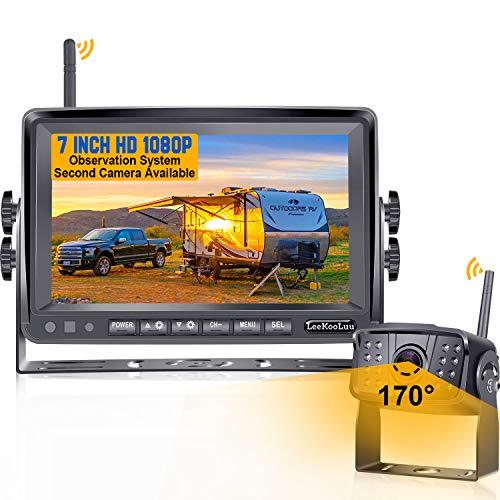 LeeKooLuu F06 HD 1080P Digital Wireless Rear View Camera with 7