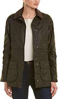 Barbour Womens Beadnell Wax Jacket, 18 Olive