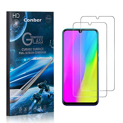 Conber (2 Pack) Screen Protector for Huawei Honor 10 Lite, [Scratch-Resistant][Anti-Shatter][Case Friendly] Premium Tempered Glass Screen Protector for Huawei Honor 10 Lite