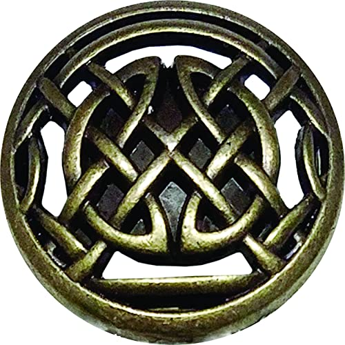 Timeless Celtic Knot Drawer Knob in Antique Brass