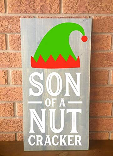 Ced454sy Notenkraker Teken Kerstmis Teken Kerstmis Houten Teken Rustiek Houten Teken Aanpasbaar Teken Houten Teken Handgemaakte Houten Teken