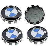 4 TAPPI COPRIMOZZO Compatibile con BMW con logo Blu e Bianco 68mm CERCHI LEGA SERIE 1 2 3 4 5 6 7 M Z X BORCHIE