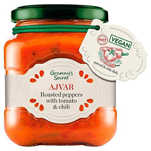 Granny's Secret Ajvar Hot Roasted Red Pepper with Tomato and Spices 200g