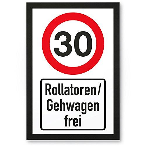 DankeDir! 30 Jahre Rollatoren Gehwagen frei Kunststoff Schild - Geschenk 30. Geburtstag Geschenkidee Geburtstagsgeschenk Dreißigsten Geburtstagsdeko Partydeko Party Zubehör Geburtstagskarte