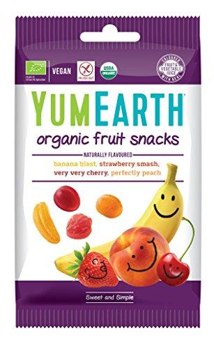 YumEarth - Pack de 6 bolsitas de 50g de Gominolas orgánicas