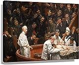VVBGL Laminas para Cuadros Thomas Eakins Poster de la clínica Agnew Impresiones artísticas Decoracion de Pared Pintura estética Cuadros de Arte 40x60cm x1 Sin Marco