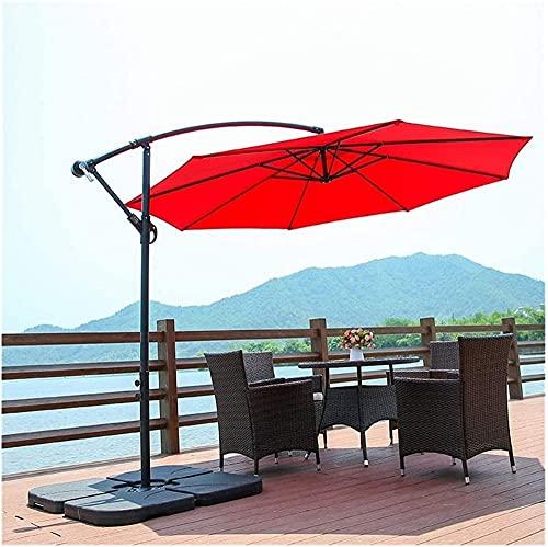 MLL Garten-Sonnenschirm, Garten-Sonnenschirme 3M, Patio-Regenschirm-Ausleger mit Hochleistungs-Kreuzbasen-Kurbelheber, ideal für gewerbliche und Private Zwecke