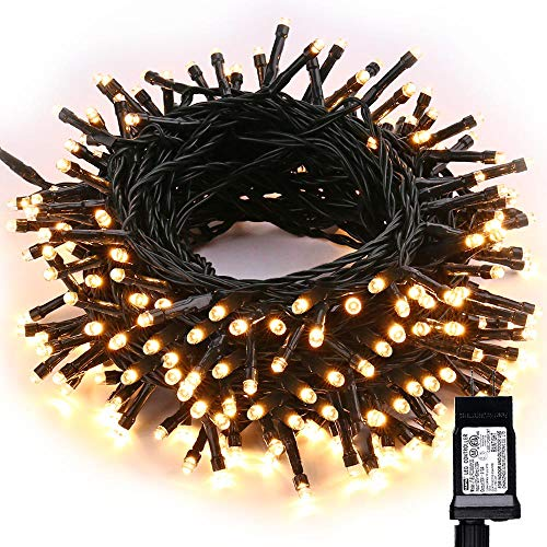 Toodour LED Christmas Lights, 72ft 200 LED String Lights with 8 Modes, Timer, Low Voltage Indoor Fairy Twinkle Lights for Christmas, Home, Garden, Party, Holiday, Tree Decorations (Warm White)
