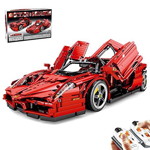 DSXX Cochecito de técnica deportivo con bloques de construcción, coche de carreras con mando a distancia de 2,4 GHz y juguete de construcción de 2615 piezas, compatible con Lego Technic
