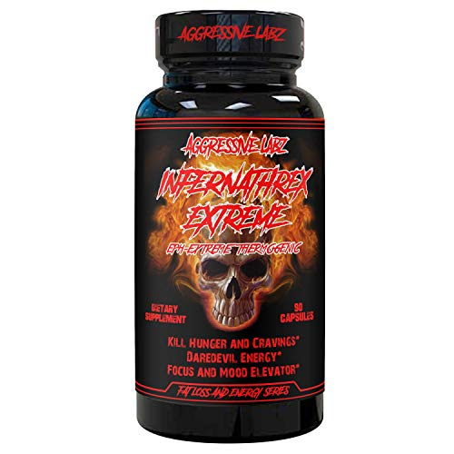 Hardcore Thermogenic Fat Burner for Men/Women - Aggressive Labz Infernathrex Extreme - Belly Fat Blaster - Appetite Suppressant and Weight Loss Pills - Keto Friendly - 90 Gel Capsules