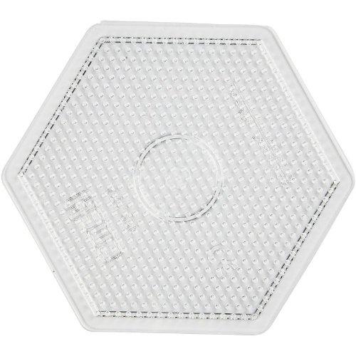 Hama MIDI Stiftplatte Sechseck groß, transparent