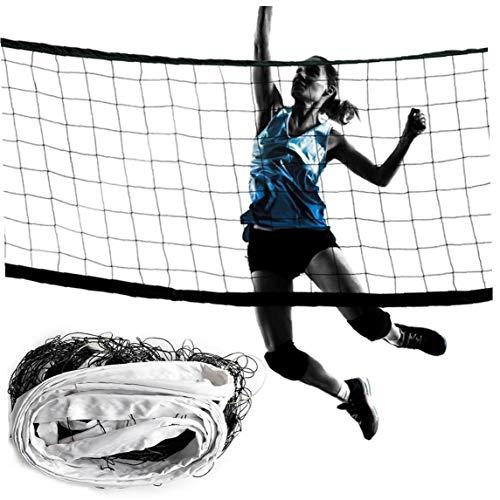 DierCosy Red del Voleibol Portable Blanco del Bádminton Red De Voleibol Neto Al Aire Libre Y Cubierta La Práctica De Deportes De Accesorios